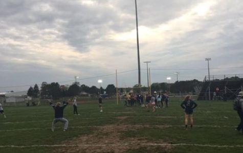 The annual powder puff football game will be held tonight at McCamley Field