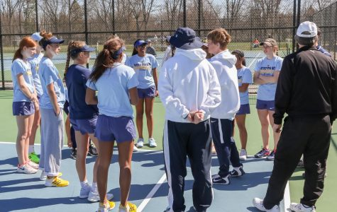 Women's varsity tennis team lead an undefeated season in the SMAC conference