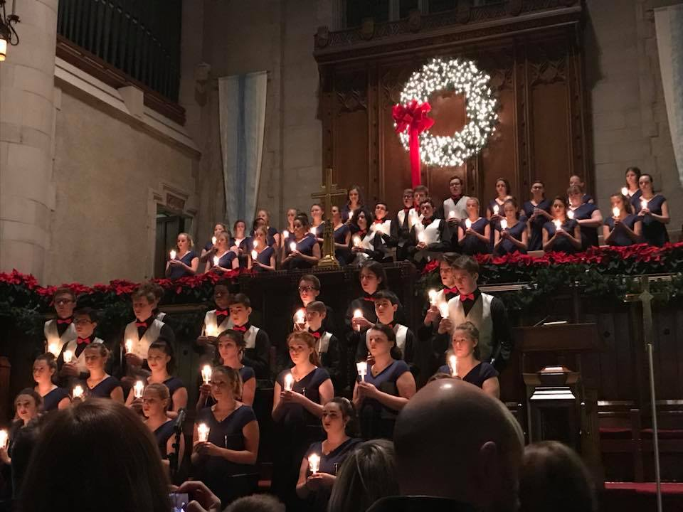 A snapshot from the annual PC holiday choir concert at the First Presbyterian Church held last season.