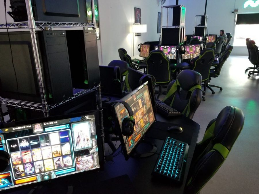 An+inside+look+at+what+eSports+can+entail+in+terms+of+equipment+and+set+up.+Taken+from+the+inside+of+the+local%2C+Glitch+Gaming+Lounge.