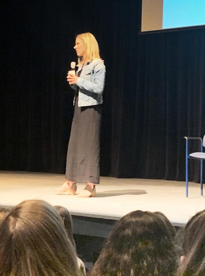Two time Olympic soccer gold winner and former mustang Lindsay Tarpley visits to speak on the importance of setting goals and working towards them.