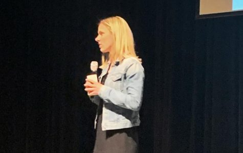 Two time Olympic gold medalist,  Lindsay Tarpley returns to Portage Central to speak on personal goals and striving to do better
